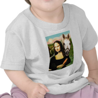 Mona Lisa y su caballo árabe Camiseta