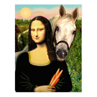 Mona Lisa y su caballo árabe Tarjeta Postal