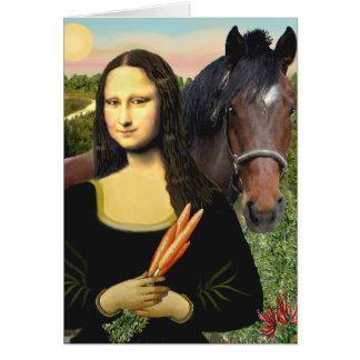 Mona Lisa y su caballo cuarto Tarjetas