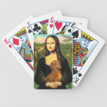 Mona Lisa y su Dachshund rojo Baraja