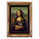 Mona Lisa y su Rottweiler Felicitaciones