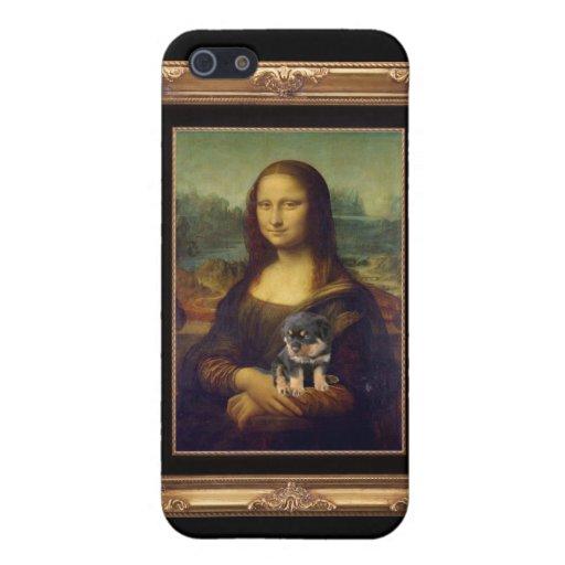 Mona Lisa y su Rottweiler iPhone 5 Coberturas