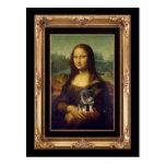 Mona Lisa y su Rottweiler Tarjeta Postal