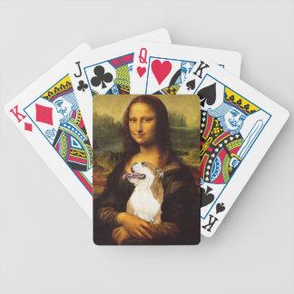 Mona Lisa y sus naipes del perro de Bull Baraja Cartas De Poker