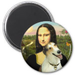Mona Lisa's Borzoi Refrigerator Magnets