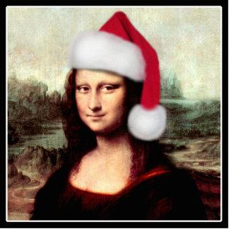 Mona Lisa's Christmas Santa Hat Cutout