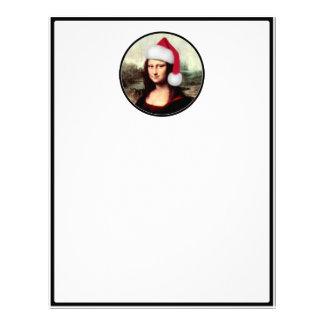 Mona Lisa's Christmas Santa Hat Letterhead