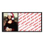 Mona Lisa's Christmas Santa Hat Photo Card