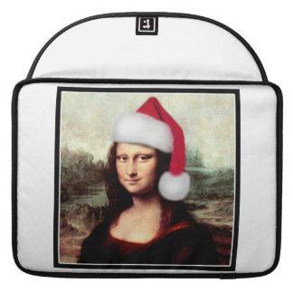 Mona Lisa's Christmas Santa Hat Sleeve For MacBooks