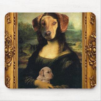 Mona Lisa's Dog - Golda Lisa - Famous Portrait Mouse Pad