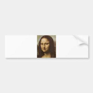 Mona Lisa's Face by Leonardo da Vinci c. 1505-1513 Bumper Sticker