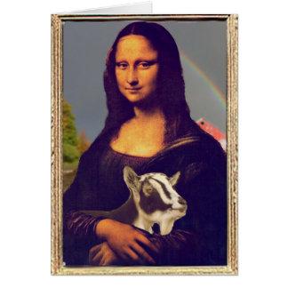 Mona Lisa's Goat Greeting Card