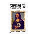 Mona Lisa's Goat Postage Stamps