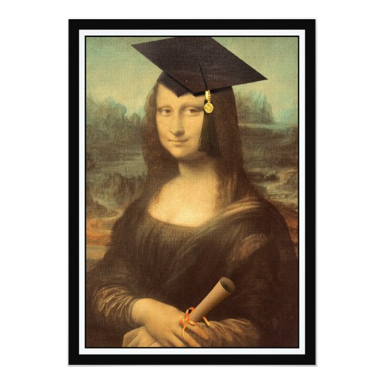 Mona Lisa's Graduation Day Card