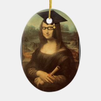 Mona Lisa's Graduation Day Ceramic Ornament