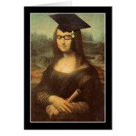 Mona Lisa's Graduation Day Greeting Card