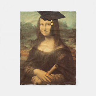 Mona Lisa's Graduation Day Fleece Blanket