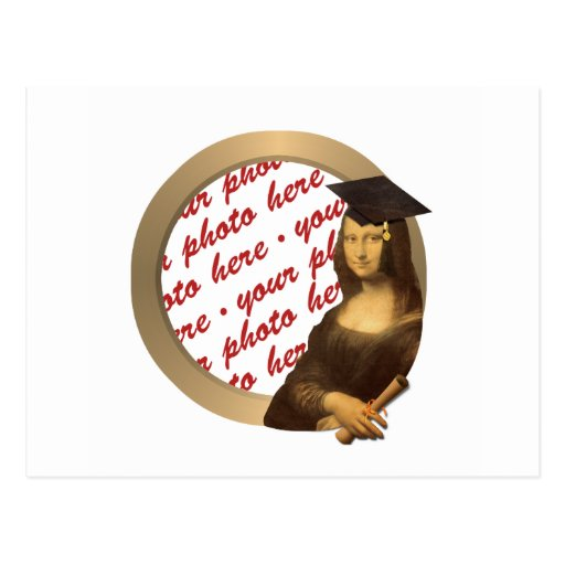 Mona Lisa's Graduation Day Photo Frame Postcards