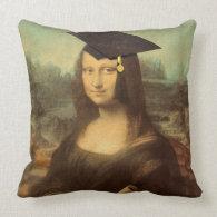Mona Lisa's Graduation Day Pillow