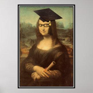 Mona Lisa's Graduation Day Poster