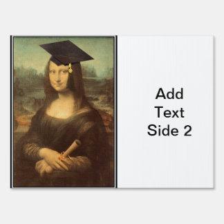 Mona Lisa's Graduation Day Lawn Sign