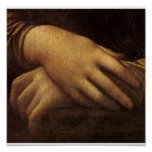 Mona Lisa's Hand by Leonardo da Vinci c. 1505-1513 Posters