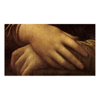 Mona Lisa's Hands by Leonardo da Vinci Double-Sided Standard Business Cards (Pack Of 100)