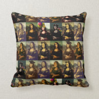 Mona Lisa's Many Faces Pillow