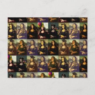 Mona Lisa's Many Faces Postcard
