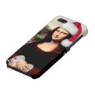 Mona Lisa's Santa Hat Covers For iPhone 5