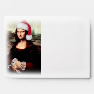 Mona Lisa's Santa Hat Envelopes