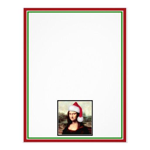 Mona Lisa's Santa Hat Letterhead