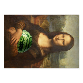 Mona 'Melona' Lisa Loves Sweet Watermelons Large Business Card