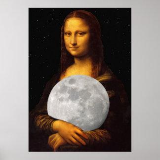 Mona Moona Lisa Poster
