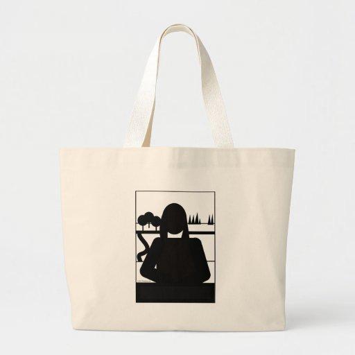 Mona Picto Jumbo Tote Bag