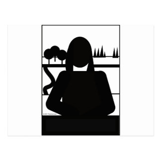 Mona Picto Postcard