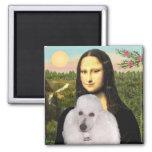 Mona-Pood-White-Standard Poodle 2 Inch Square Magnet
