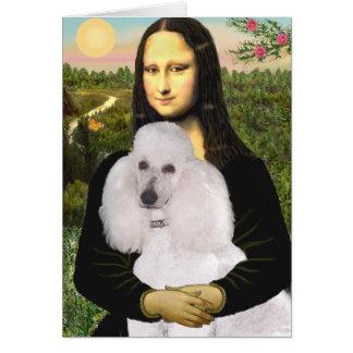 Mona-Pood-White-Standard Poodle Cards