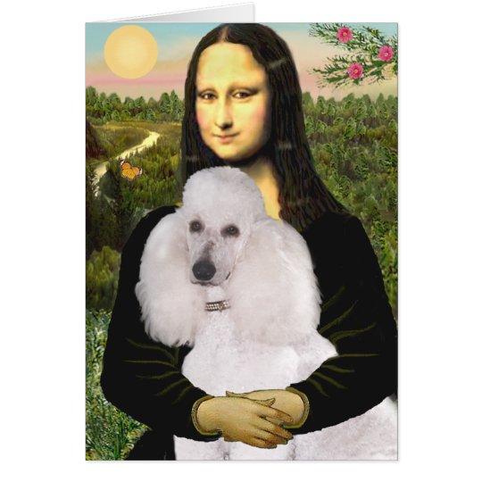 Mona-Pood-White-Standard Poodle Card