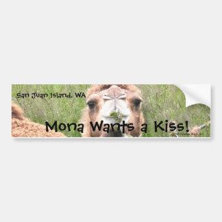 ¡Mona quiere un beso! Pegatina Para Auto