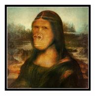 Mona Rilla aka  Mona Lisa Standing Photo Sculpture