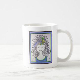 Mona Smiles Classic White Coffee Mug
