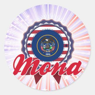 Mona UT Round Stickers