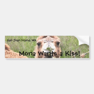 Mona Wants a Kiss! Car Bumper Sticker