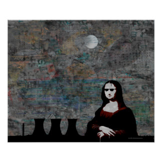 Mona with Cooling Towers Poster