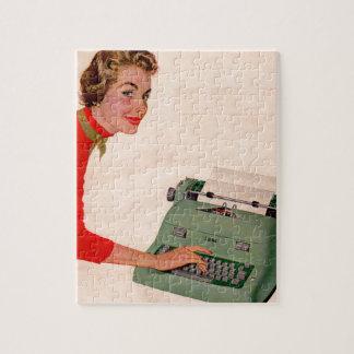 Mona y su nueva máquina de escribir puzzle con fotos