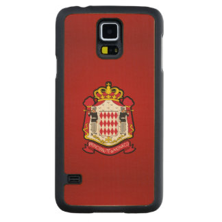 Monacan coat of arms carved maple galaxy s5 case