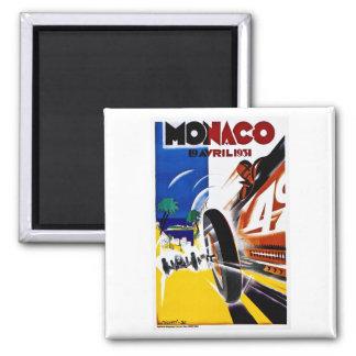 Monaco 1931 Grand Prix - Vintage Race Poster 2 Inch Square Magnet