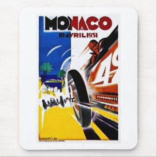Monaco 1931 Grand Prix - Vintage Race Poster Mouse Pad