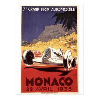 Monaco 1935 Grand Prix poster design Postcard